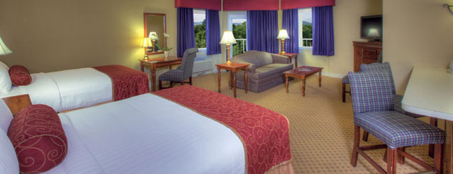 Wide view of the Music Road Hotel Family Suite in Pigeon Forge