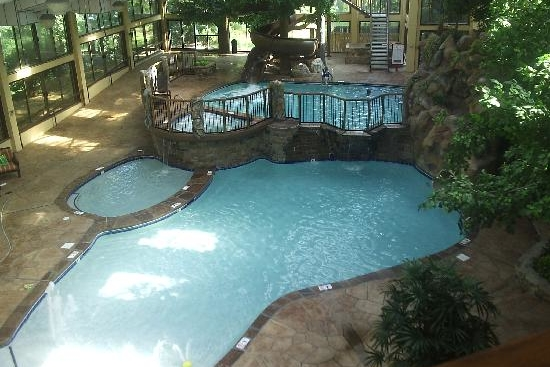 View of the Double Tier Indoor Pool at the Park Vista Gatlinburg