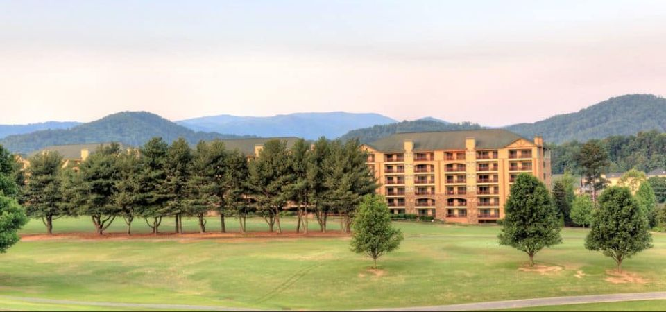 View of the Riverstone Resort in Pigeon Forge from the Golf Course 960