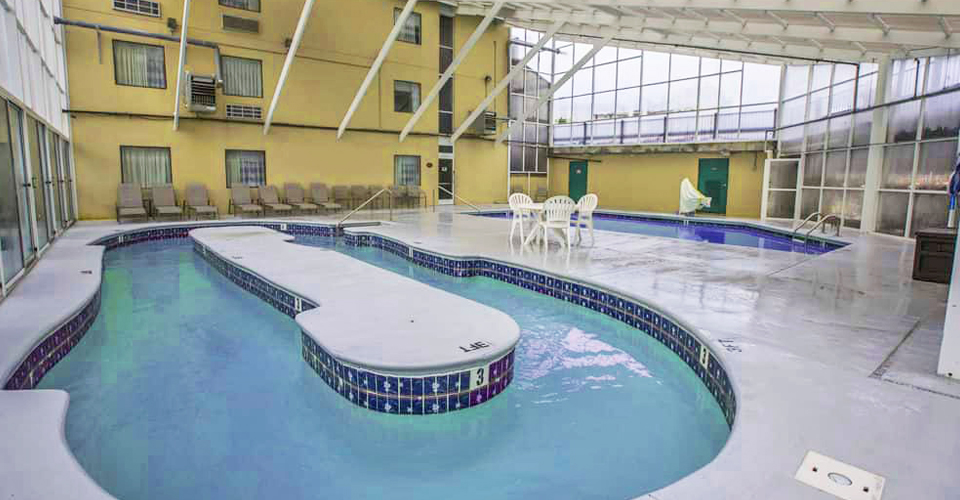 View of the indoor pool and lazy river at the Sleep Inn & Suites in Gatlinburg 960