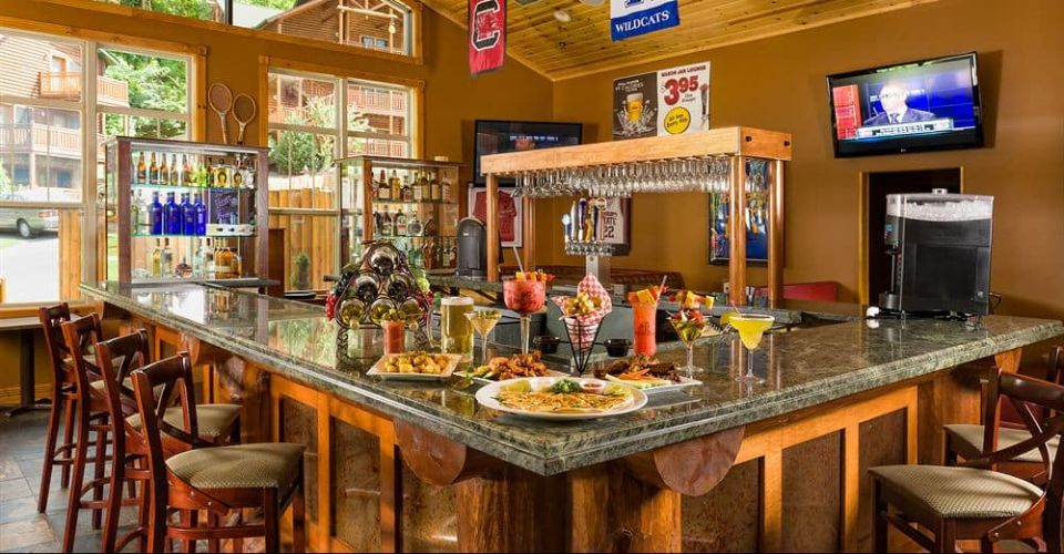 View of a Bar at the Roaring Fork Snack Bar at Westgate Smoky Mountain Resort 960