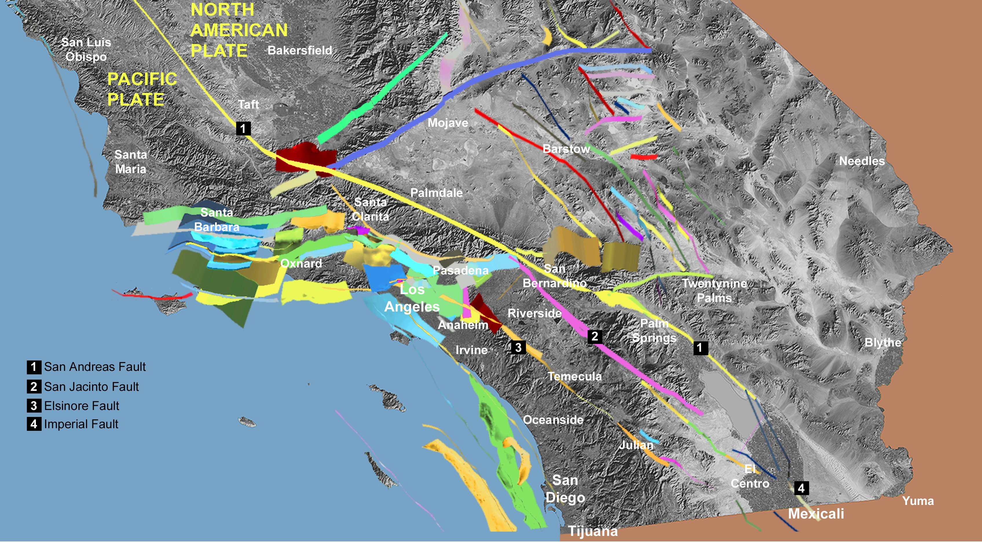 Hayward Fault Map Giant Map - Us fault map