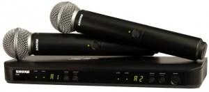 Радиомикрофоны SHURE BLX288E/PG58 в аренду, на прокат в Москве