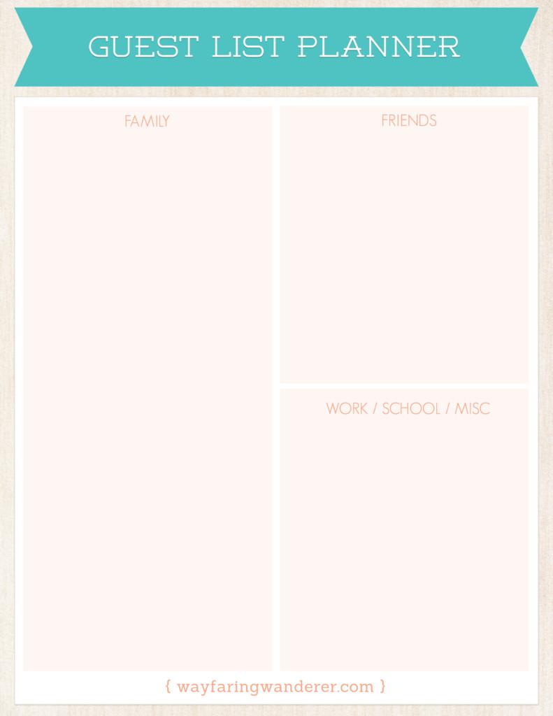 Wedding Guest List Planner