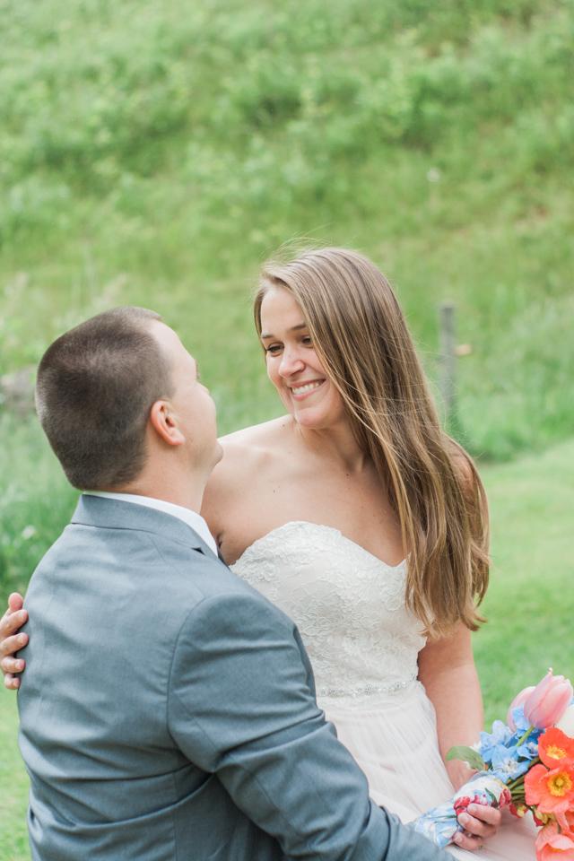 White Fence Farm Wedding - Bride & Groom Portrait
