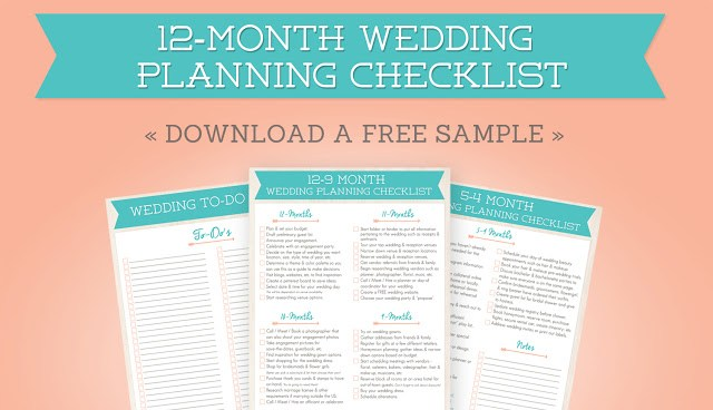 12-Month Wedding Planning Checklist | Free Wedding Planner Printable
