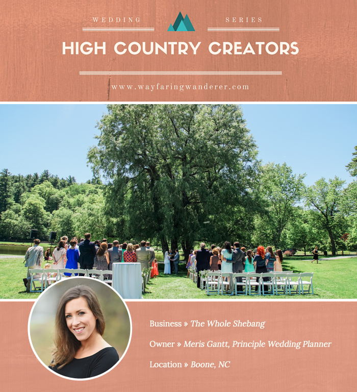 High Country Creators The Whole Shebang Wedding Planner