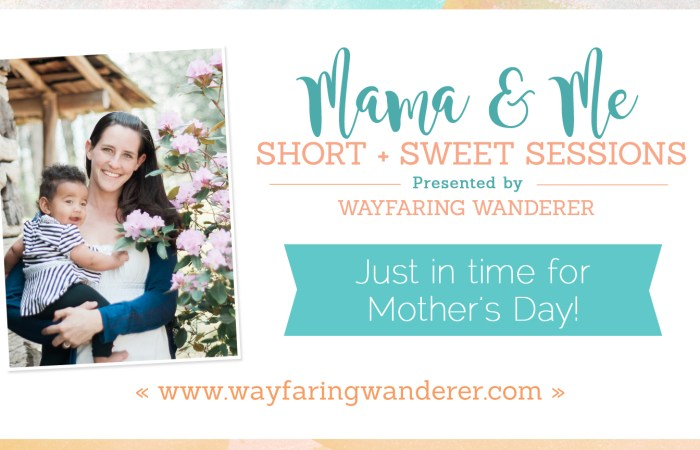 Mama and Me Sessions at Grandfather Mountain