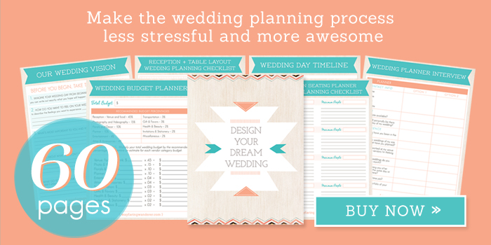 60-Page Wedding Planner Printable - Wedding Planning Kit, Wedding Checklist, Wedding Binder