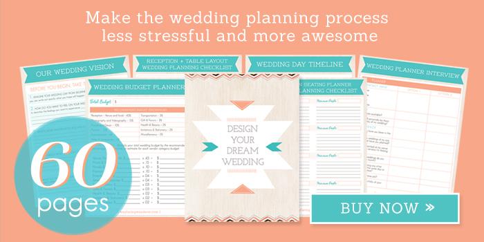 60-Page Wedding Planner Printable - Wedding Planning Kit, Wedding Checklist, Wedding Binder