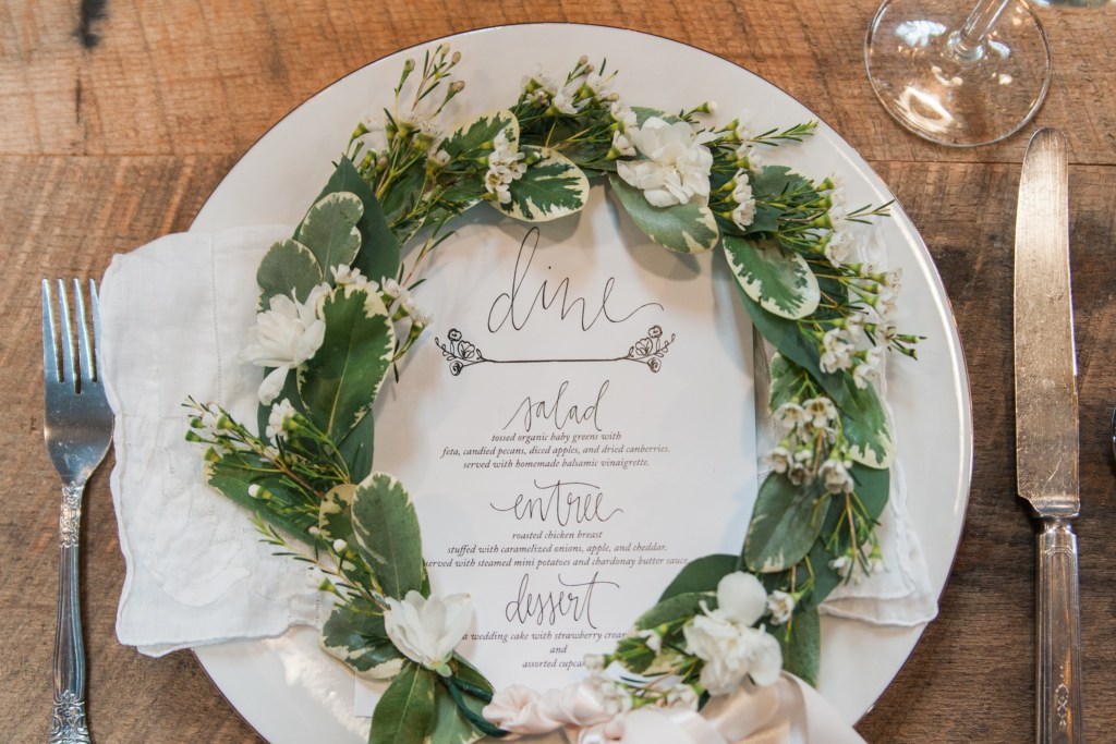 Overlook Barn NC Wedding Venue - Menu