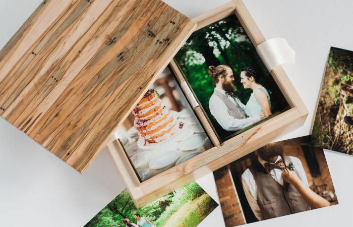 Custom Wood Photo Box by Ox Woodworx