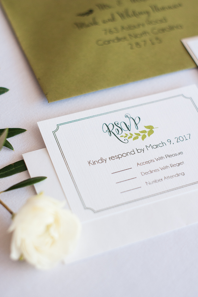 Greenery Wedding Invitation ideas