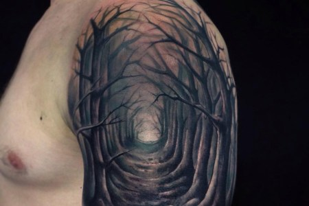 spooky woods cool tattoo