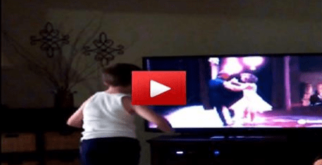 Boy Dances To Patrick Swayze In 'Dirty Dancing'