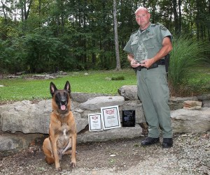 Sgt Robin Curtis and Rocky K-9 Team
