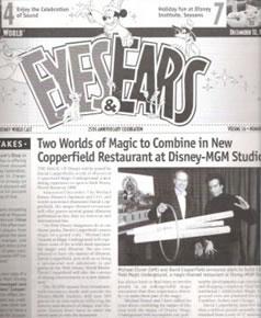Eyes and Ears - Michael Eisner -0 David Copperfield