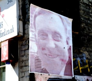 Unauthorized photos of U.S. intelligence officials stencilled on the walls of your city