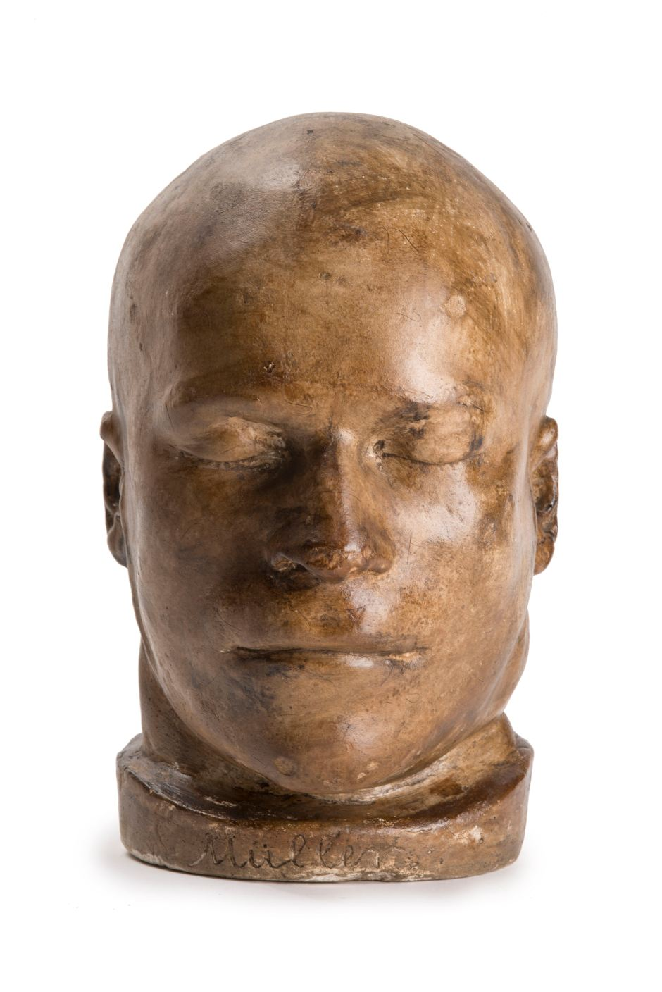 19. Death mask of Franz Muller, a German tailor who committed the first British railway murder, 1864 ∏ Museum of London