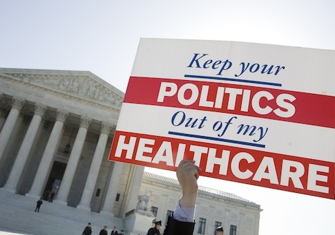 HEALTHCARE LAW PROTESTS AT SUPREME COURT