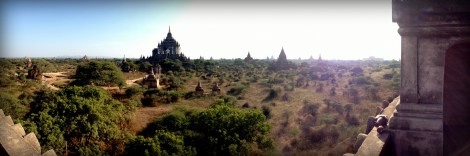 The valley stretches as far as the eye can see, with temples poking up from the horizon everywhere.