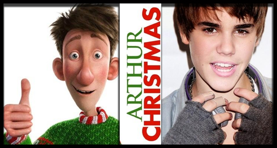 JUSTIN BIEBER Is Coming To Town... In ARTHUR CHRISTMAS - We Are Movie Geeks