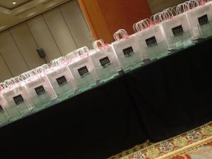 Rising Star Awards - Rising Star Award table and goody bag from Marks & Spencer