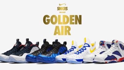 nike+ snkrs golden air