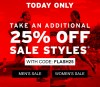 25% Off Sale Styles at Saucony Today Only