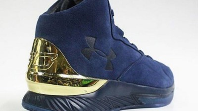 under armour curry 1 lux blue suede 2