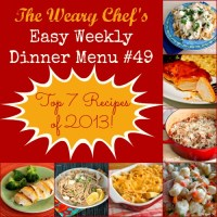Easy Weekly Dinner Menu 49: YOUR favorite recipes from 2013!