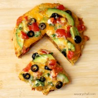 Loaded Mexican Pizza: Pile on the toppings and enjoy!