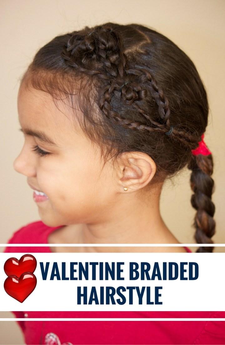VALENTINE BRAIDED HAIRSTYLE
