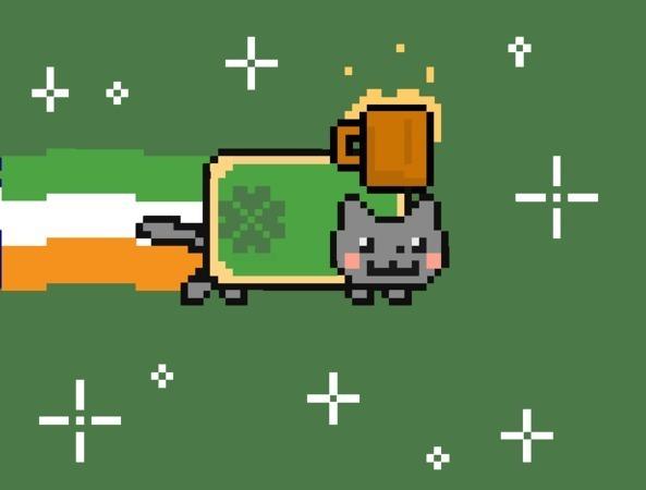 St Patricks Day Nyan Cat