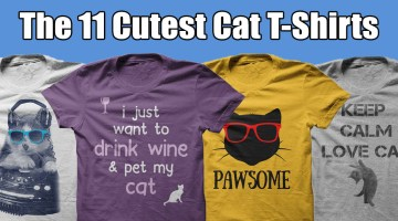 The 11 Cutest Cat T-Shirts