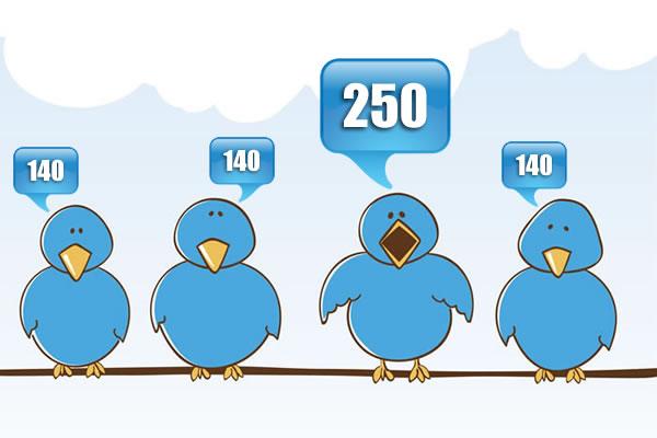 Twitter news : La règle de « 140 caractères » n'aura pas lieu dorénavant