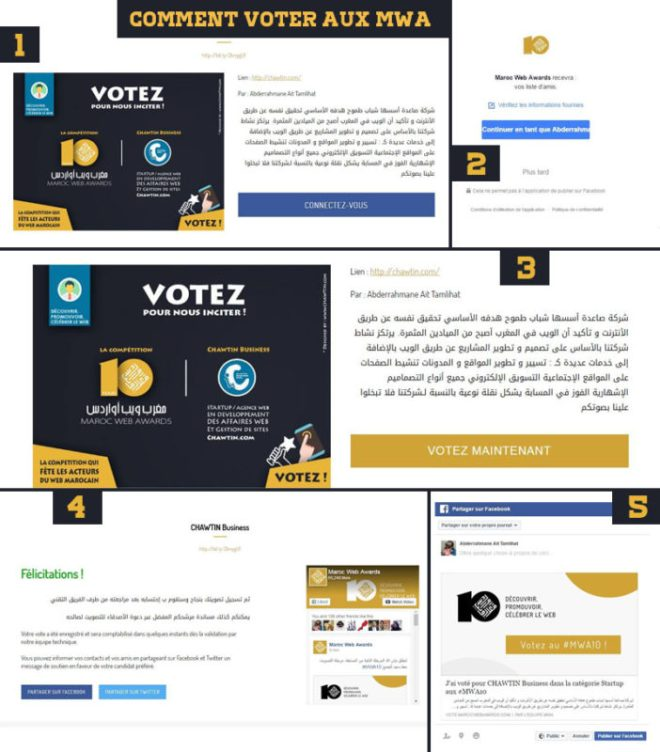 Comment voter aux MWA 10 - Maroc web awards