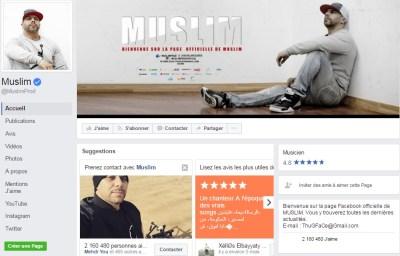Page Facebook de de Muslim - Rap Maroc 2017