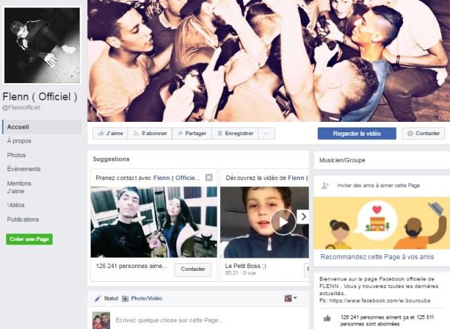 Page Facebook de Flenn
