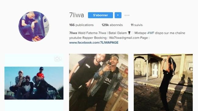 Instagram de 7LIWA - Rap Maroc 2017
