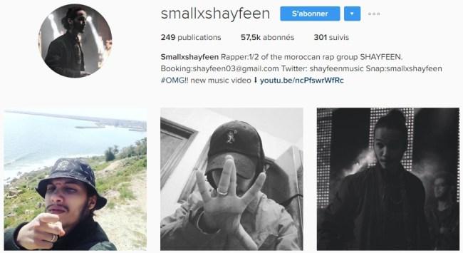 Instagram de Smallx - SHAYFEEN