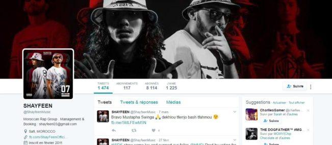 Twitter de SHAYFEEN - Rap Maroc 2017