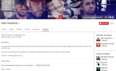 Chaîne Youtube de Muslim - Rap Maroc 2017
