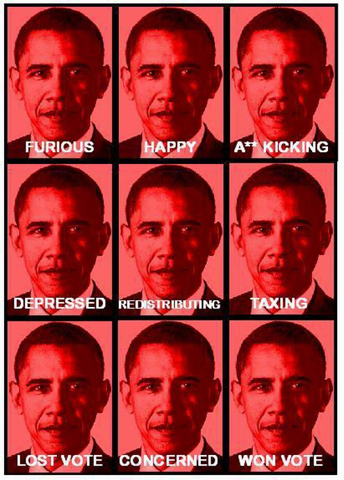 Many Faces of Barack Obama