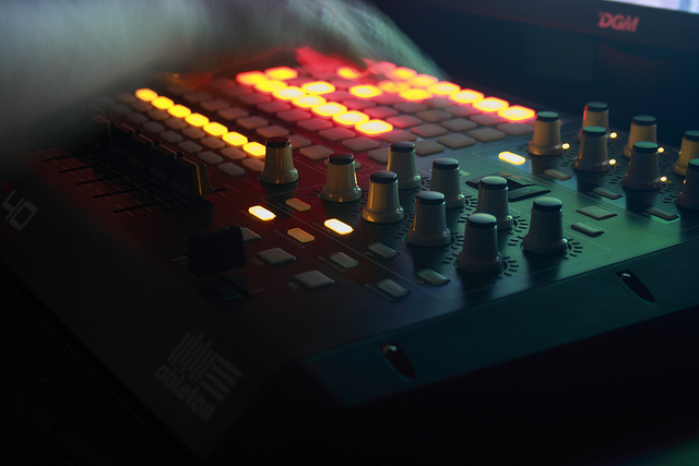 Akai APC40 Live DJ Set by stevedocious on Flickr