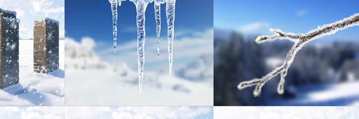 エレメントを制御してください:そのすべての形状の凍りついた水のペイント