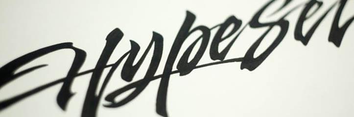 26の魅力的な手書き文字とカリグラフィーデザイン