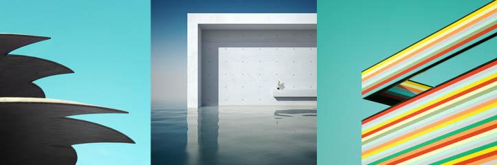 50の美しい建築のミニマル写真