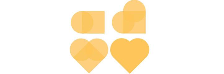 CSSでのハートの形の作り方