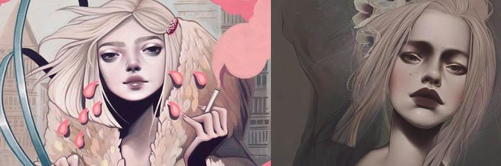 ケルシー・ベケットによるポートレートイラスト by Kelsey Beckett